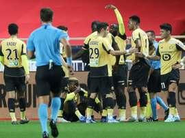 Coupe de la Ligue: victime d'un malaise, le Lillois Osimhen a été évacué à l'hôpital. AFP