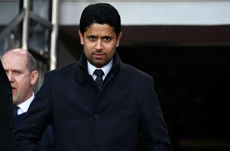 Al-Khelaïfi a évoqué le Real Madrid et les rumeurs concernant Neymar. AFP