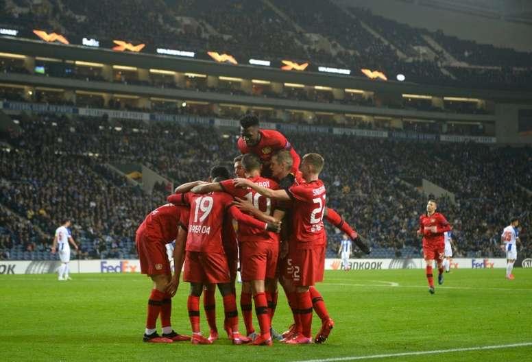 Bayer Leverkusen elimina o Porto em casa e se classifica para as oitavas da Europa League. AFP