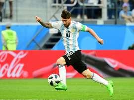 Messi está apercibido. AFP