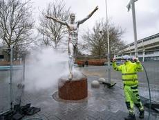 La statue d'Ibrahimovic restera à Malmö, sa ville natale. AFP