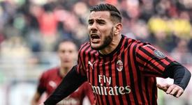 Theo, pieza esencial en el Milan. AFP