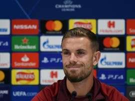 Henderson confía en que habrá una atmósfera mágica en Anfield. AFP
