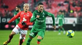Les compos probables du match de Ligue 1 entre Saint-Étienne et Reims. AFP