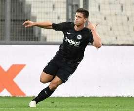 Luka Jovic is on Barcelona's radar. AFP