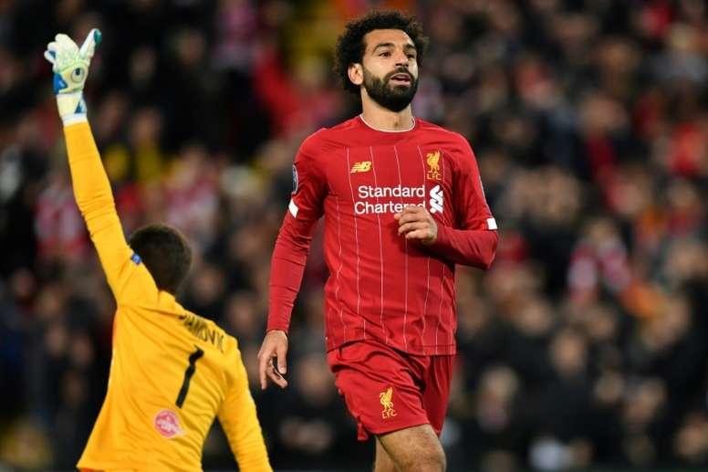 Mo Salah incertain pour le match contre Crystal Palace. AFP