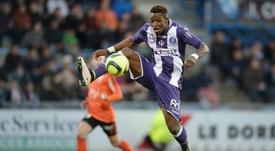 Moubandje finit son contrat à Toulouse cette saison. AFP