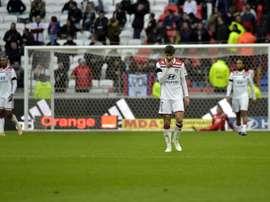 Martin Terrier et les Lyonnais restent sur un revers humiliant à domicile en Ligue 1. AFP