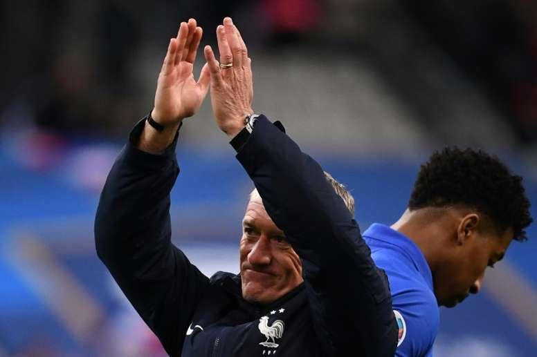 La Federación Francesa no liberará a Deschamps. AFP