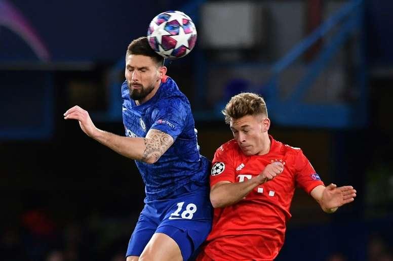Giroud revient sur la défaite de Chelsea. AFP