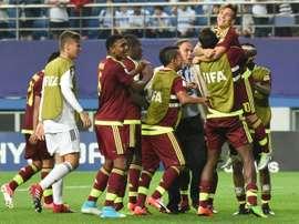 L'équipe vénézuélienne, victorieuse de l'Uruguay en demi-finales du Mondial des moins de 20 ans. AFP