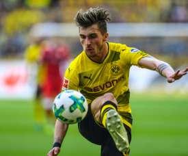 Maximilian Philipp a triplé la marque aujourd'hui pour Dortmund. AFP