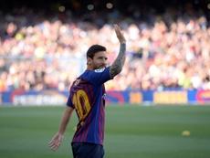 Messi, pas si seul. AFP