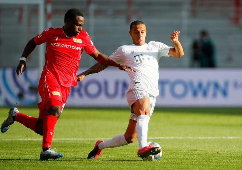 Thiago incertain samedi avec le Bayern contre Francfort. AFP