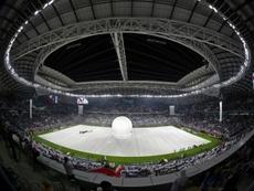 Inauguration en grande pompe du premier stade. AFP