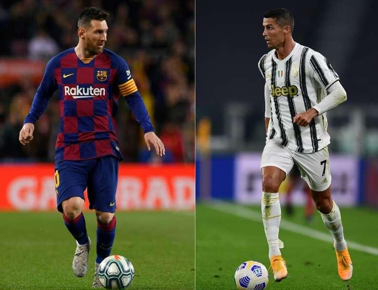 Messi - Ronaldo : Lequel des deux a inscrit le plus de coup-francs ? AFP/EFE