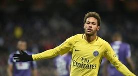 Neymar ne jouera pas face à Toulouse. AFP