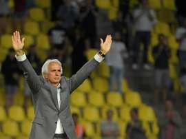 Vahid Halilhodzic après son dernier match en tant qu'entraîneur de Nantes. AFP