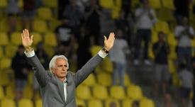 Vahid Halilhodzic après son dernier match en tant qu'entraîneur du FC Nantes. AFP