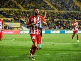 O conjunto madrileno venceu por 1-5 na segunda rodada da LaLiga. AFP