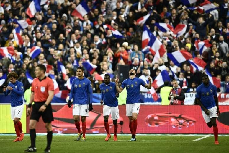 La France a gagné 4-0. AFP