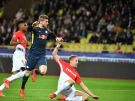 Timo Werner anotó dos de los cuatro goles de los de la bebida energética. AFP