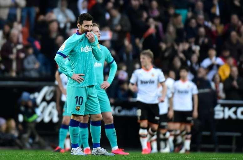 Messi n'a pas trouvé la faille. AFP