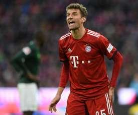 Müller revelou que não está feliz com sua atual situação no Bayern.  AFP