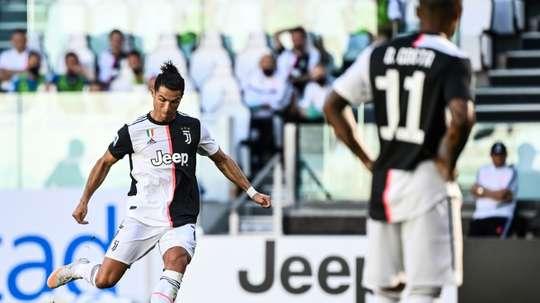 Cristiano tira um peso das costas. AFP