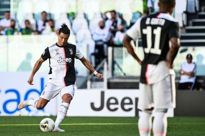 Maurizio Sarri revient sur le but de Cristiano Ronaldo. AFP