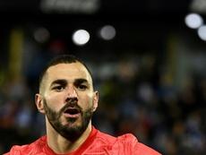 Karim Benzema buteur lors du match nul 1-1 à Leganés. AFP
