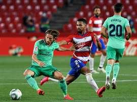 Espagne: le Real Madrid à un match du titre, le Barça en embuscade. AFP