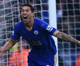 Leonardo Ulloa is in talks with Leicester over a contract extension. AFP