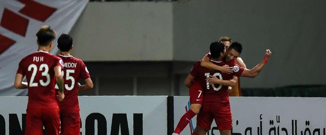 Shanghai SIPG goleou o Guangzhou Evergrande. AFP