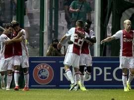 El Ajax goleó sin mesura al Willem II en Copa. AFP