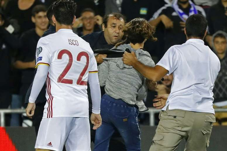 Israel police dismiss report of knife incident at Spain match. AFP