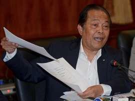Worawi Makudi, alors président de la Fédération thaïlandaise de football, le 20 septembre. AFP