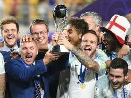 A Inglaterra bateu a Venezuela para se sagrar campeã mundial. AFP