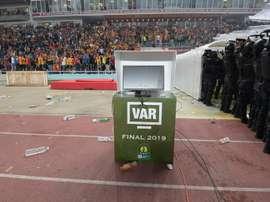 La vidéo assistance (VAR) en panne lors de la finale retour de la Ligue des champions d'Afrique. AFP