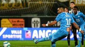 Payet, decisivo para derrotar al Angers. AFP