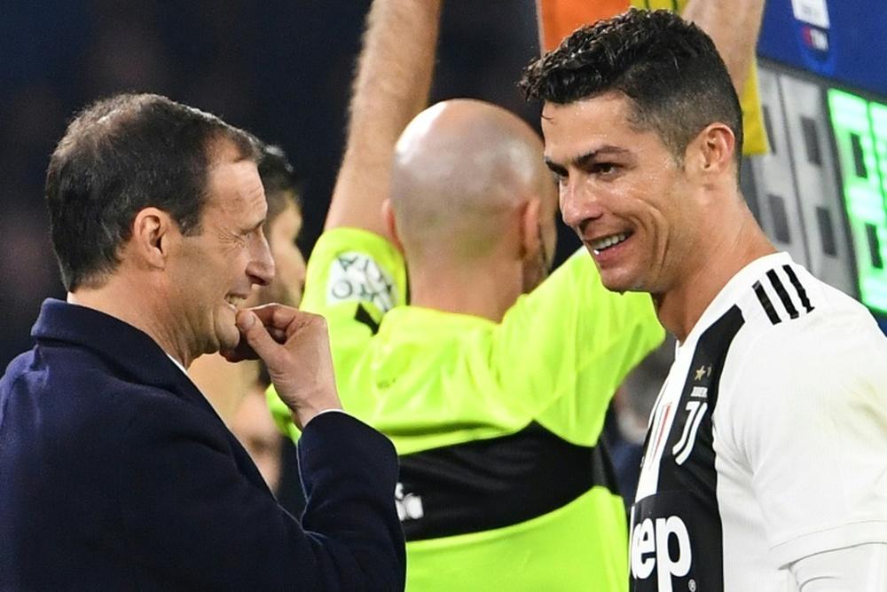 Allegri parla del futuro di Ronaldo. AFP