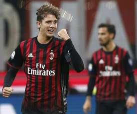 Le jeune Manuel Locatelli, auteur du but de la victoire de lAC Milan face à la Juventus, le 22 octobre 2016 San Siro