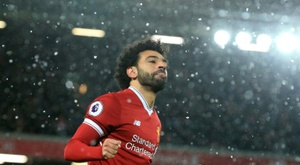 Com dois golaços de Salah, Liverpool vence Watford em casa. AFP