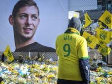 Des supporters du FC Nantes rendent hommage à l'Argentin disparu en mer Emiliano Sala. AFP