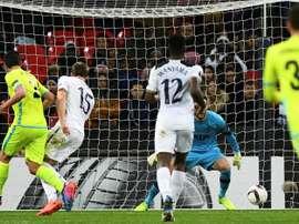 La défense de Tottenham et Lloris impuissants. AFP