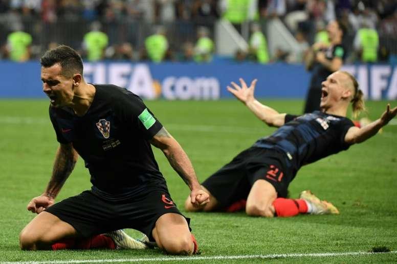 Lovren jugará la final con Croacia. AFP