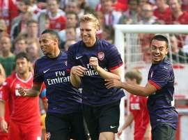 Le milieu de terrain a commencé sa carrière à Arsenal. AFP