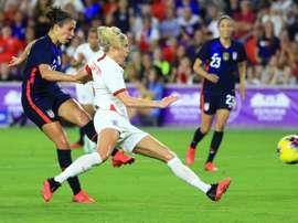 Les Américaines battent les Anglaises 2-0. AFP