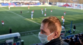 Le foot bélarusse gagne le monde mais les stades se vident. AFP