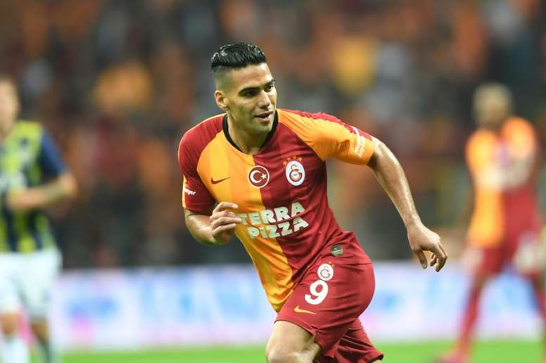Falcao has apparently decided to stay at Galatasaray. AFP